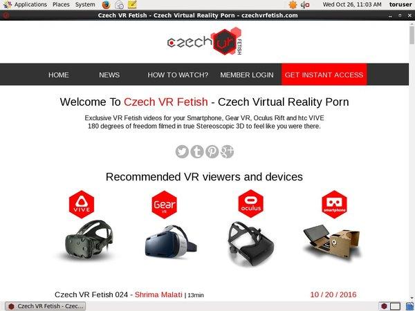 Czech VR Fetish Paypal?