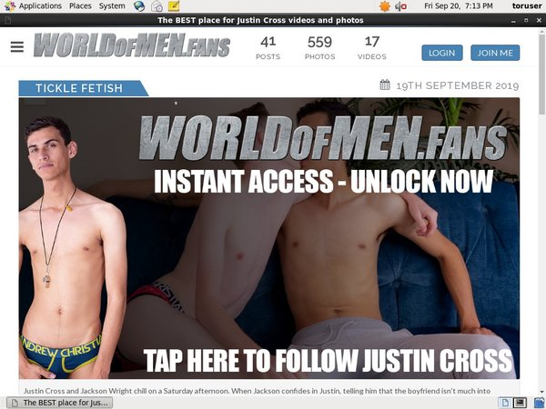 Discount Offer World Of Men Fans - Justin Cross