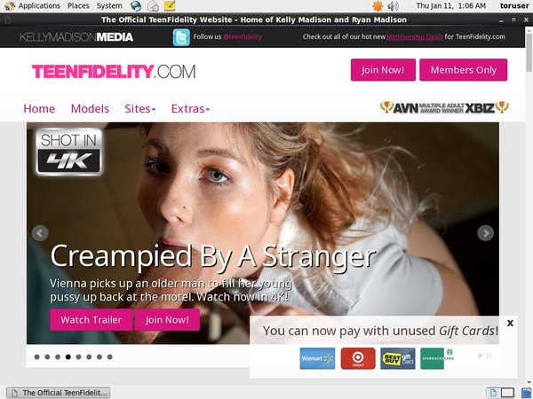 Teenfidelity.com Register Form